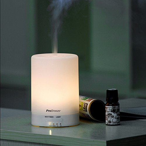 Difusor de Aromas y Humidificador Ultrasónico con 7 Ledes que Cambian de Color. Aromaterapia para Casa, Oficina y Spa