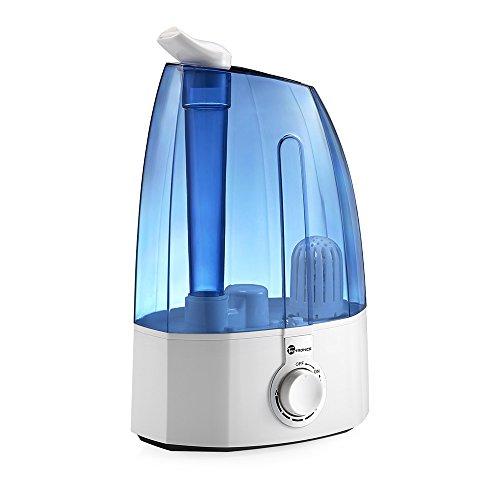 Humidificador Ultrasónico para Bebé de Vapor Frío marca TaoTronics, con capacidad de 3,5L, Control Clásico Dial, 30W, Gran capacidad, filtro Extra de cerámica fina, 360° rotativo