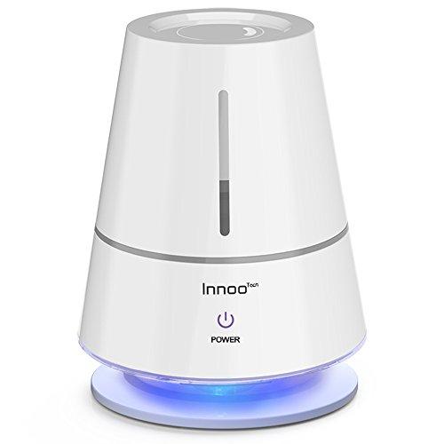 Humidificador Táctil Multifuncional, marca Innoo Tech 2,0L, ideal para estancias de 20m²-30m², es decorativo como lámpara de Mesa LED