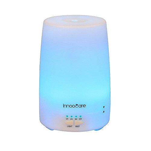 InnooCare 150ml, Humidificador Ultrasónico de Vapor Frío, con Difusor de Aceites Esenciales, Luz LED con 7 Colores