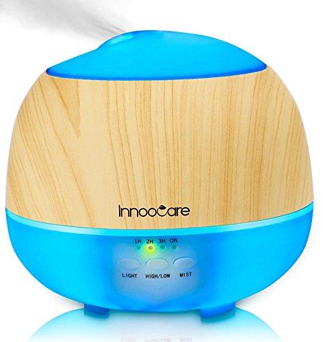 InnooCare 500ml Humidificador con difusor de Aceites con Aroma, con 7 Colores LED, 4 Temporizadores, sistema de Vapor Frío