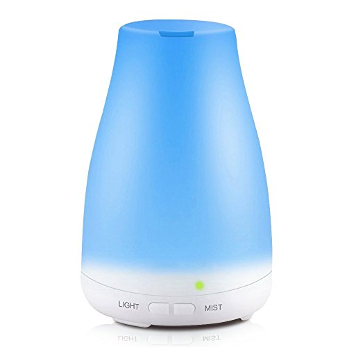 KBAYBO Humidificador ultrasónico, sistema de vapor frío, con luces LED de color, difusor de aceites esenciales, sin agua, con apagado automático