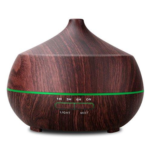 Humidificador Tenswall 400ML. Difusor de aroma/aceite esencial de Vapor frío, anillo de luces LED de 7 colores